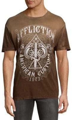Affliction Death Spade Cotton Tee
