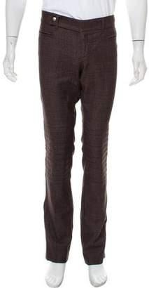 Gucci Plaid Wool Moto Pants
