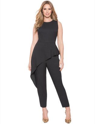 Plus Size Studio Asymmetrical Peplum Jumpsuit $119.90 thestylecure.com