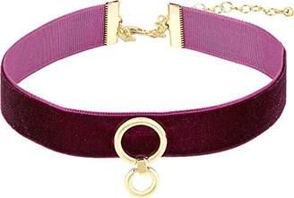 Rebecca Minkoff Velvet Ring Choker Necklace