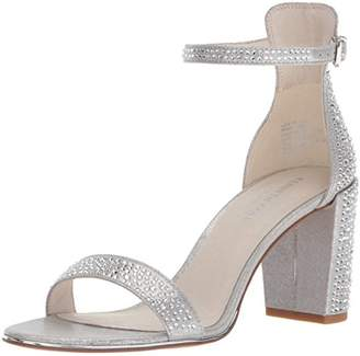 Kenneth Cole New York Women's Lex Shine Glitzy Block Heeled Sandal Ankle Strap