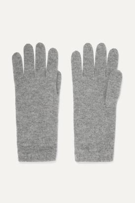 Johnstons of Elgin Cashmere Gloves - Light gray
