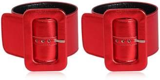 ATTICO Metallic Leather Ankle Cuffs