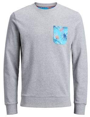 Jack and Jones Floral Cotton Sweatshirt