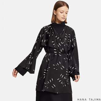 Uniqlo Women's Hpj Wrap Printed Long-sleeve Tunic