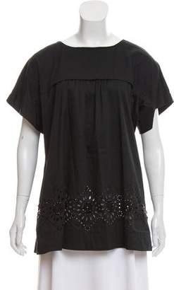 DKNY Embellished Short Sleeve Top