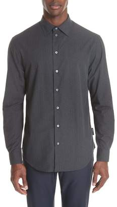 Emporio Armani Regular Fit Geometric Dress Shirt