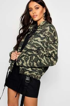 boohoo Camo Utility Jacket
