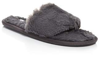 PJ Salvage Faux Fur Slide Slippers