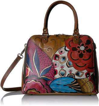 Anuschka ANNA BY HANDPAINTED ORGANIZER SATCHEL, TRIBAL POTPOURRI Shoulder Bag