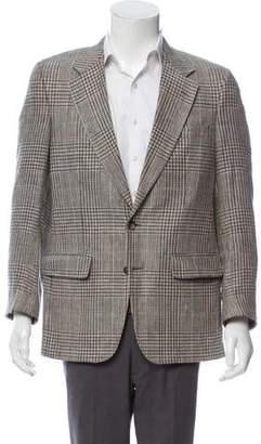 Burberry Silk Glen Plaid Blazer