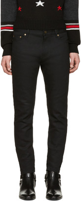 Saint Laurent Black Low Waisted Skinny Jeans $490 thestylecure.com
