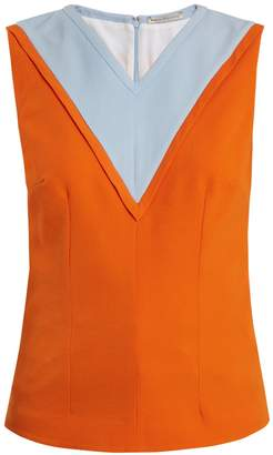Emilia Wickstead Iggy contrast-panel crepe top
