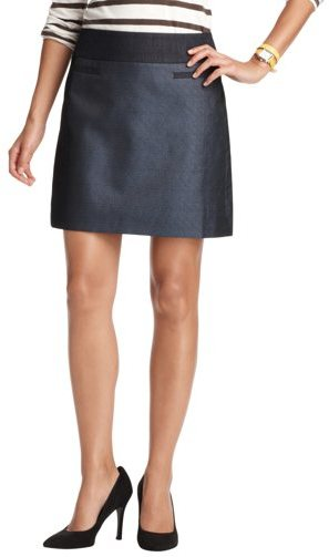 Petite Metallic Jacquard Shift Skirt