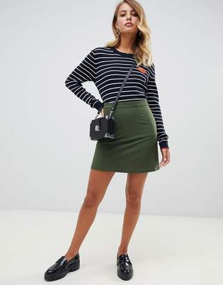Asos Design DESIGN tailored a-line mini skirt