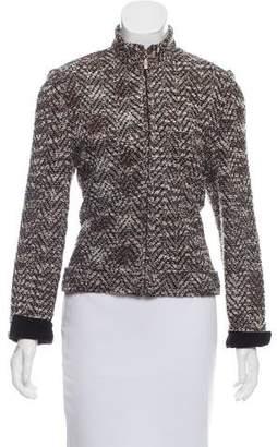 Couture St. John Tweed Zip-Up Jacket