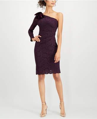 Jessica Howard One-Shoulder Lace Dress
