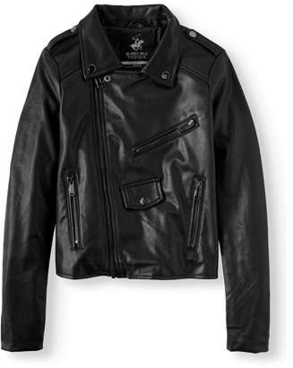 Beverly Hills Polo Club Faux Leather Moto Jacket (Little Girls & Big Girls)