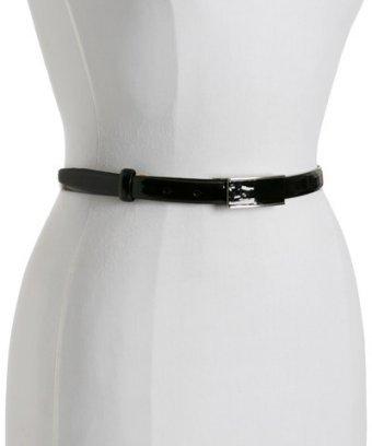 Fashion Focus black patent leather skinny belt