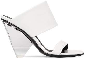 Balmain 95mm Lory Patent Leather Wedges