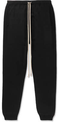 Rick Owens Slim-Fit Tapered Knitted Silk Sweatpants
