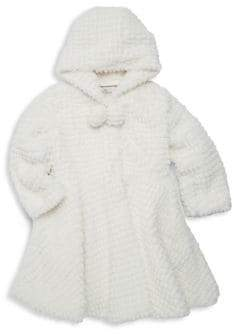 Widgeon Little Girl's& Girl's American Widgeon Flared Faux Fur Coat