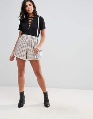 Glamorous Beaded Shorts
