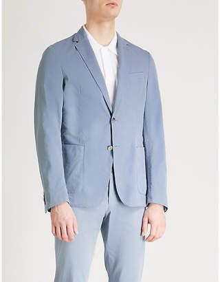 BOSS Regular-fit cotton-blend jacket