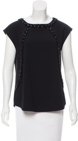 Marc by Marc Jacobs Embellished Short Sleeve Top w/ Tags