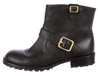Marc by Marc Jacobs Buckle-Embellished Leather Ankle Boots