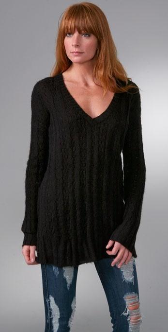 Covered V Neck Sweater