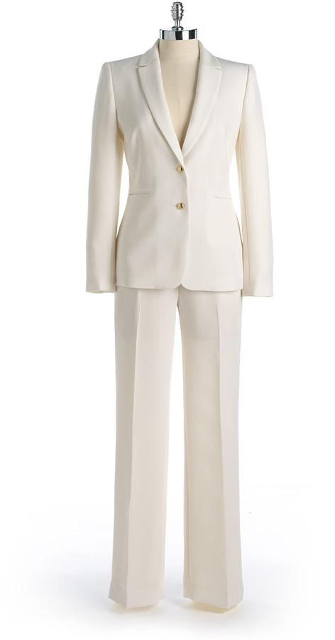 Tahari ARTHUR S. LEVINE Two-Button Pants Suit