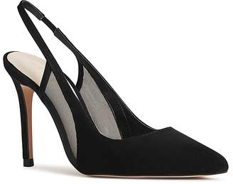 Reiss Women's Clara Suede & Mesh Slingback Pointed Toe Pumps