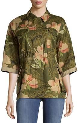 Moncler Women's Printed Cotton Jacket