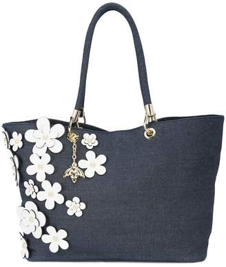 Christian Siriano floral tote bag