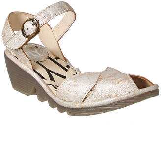 Fly London Pero Leather Wedge Sandal