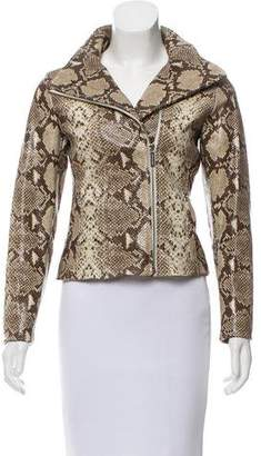 MICHAEL Michael Kors Leather Snakeskin Jacket