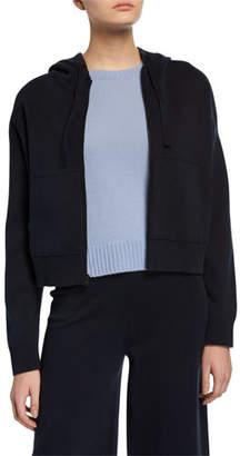 Vince Zip-Front Washed Hoodie Jacket