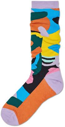 Hysteria By Happy Socks Betty Graphic Cotton Mid-Calf Socks