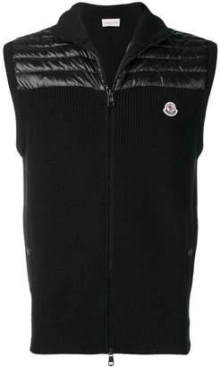 Moncler high neck padded panel gilet