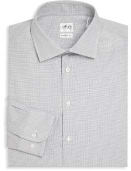 Armani Collezioni Regular-Fit Textured Dress Shirt