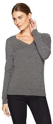 Amazon Essentials Women's 100% Cashmere V-Neck Sweater