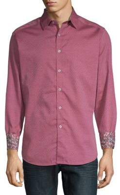 Robert Graham Hess Printed Cotton Button-Down Shirt