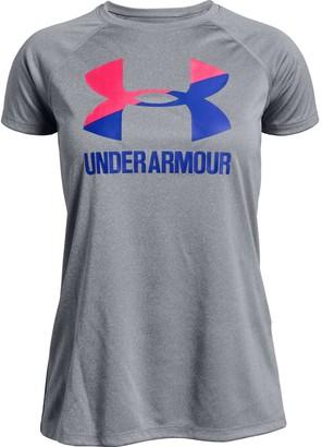 Under Armour Girls' UA Big Logo Solid T-Shirt