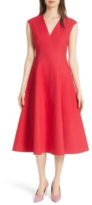 KATE SPADE NEW YORK structured midi dress