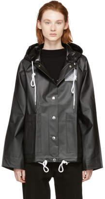 Proenza Schouler Black PSWL Short Rain Jacket