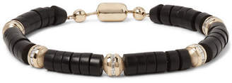 Luis Morais Bead, 14-Karat Gold and Diamond Bracelet - Black