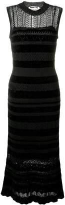 McQ fitted crochet dress