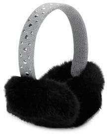 MICHAEL Michael Kors Studded Faux Fur Ear Muffs