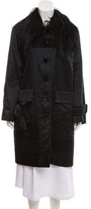 Louis Vuitton Fur-Trimmed Oversize Coat